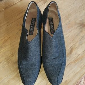 Prevata Vintage Gray Pointed Toe Booties  SZ 9.5
